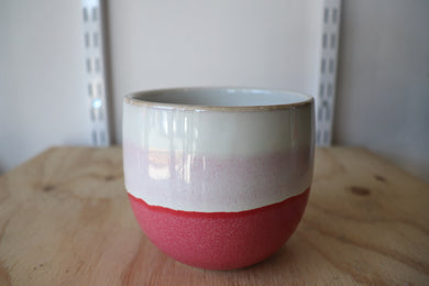Hand painted pink pot M