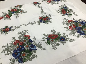 0104/2 Floral Retro Tablecloth