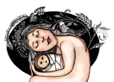 Mother and child (A3 print)