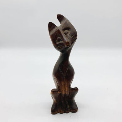 Small Wooden Cat