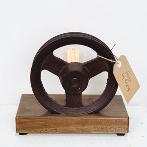 Industrial Pulley Wheel Lamp