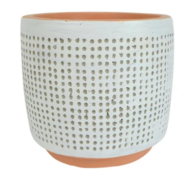 White Dotti Pot