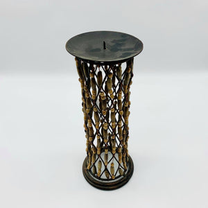 Tall Beaded Candle Holder