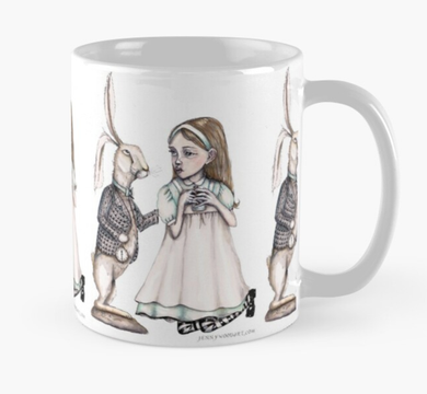 Alice and hare mug
