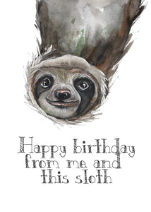 Sloth birthday (sml card)