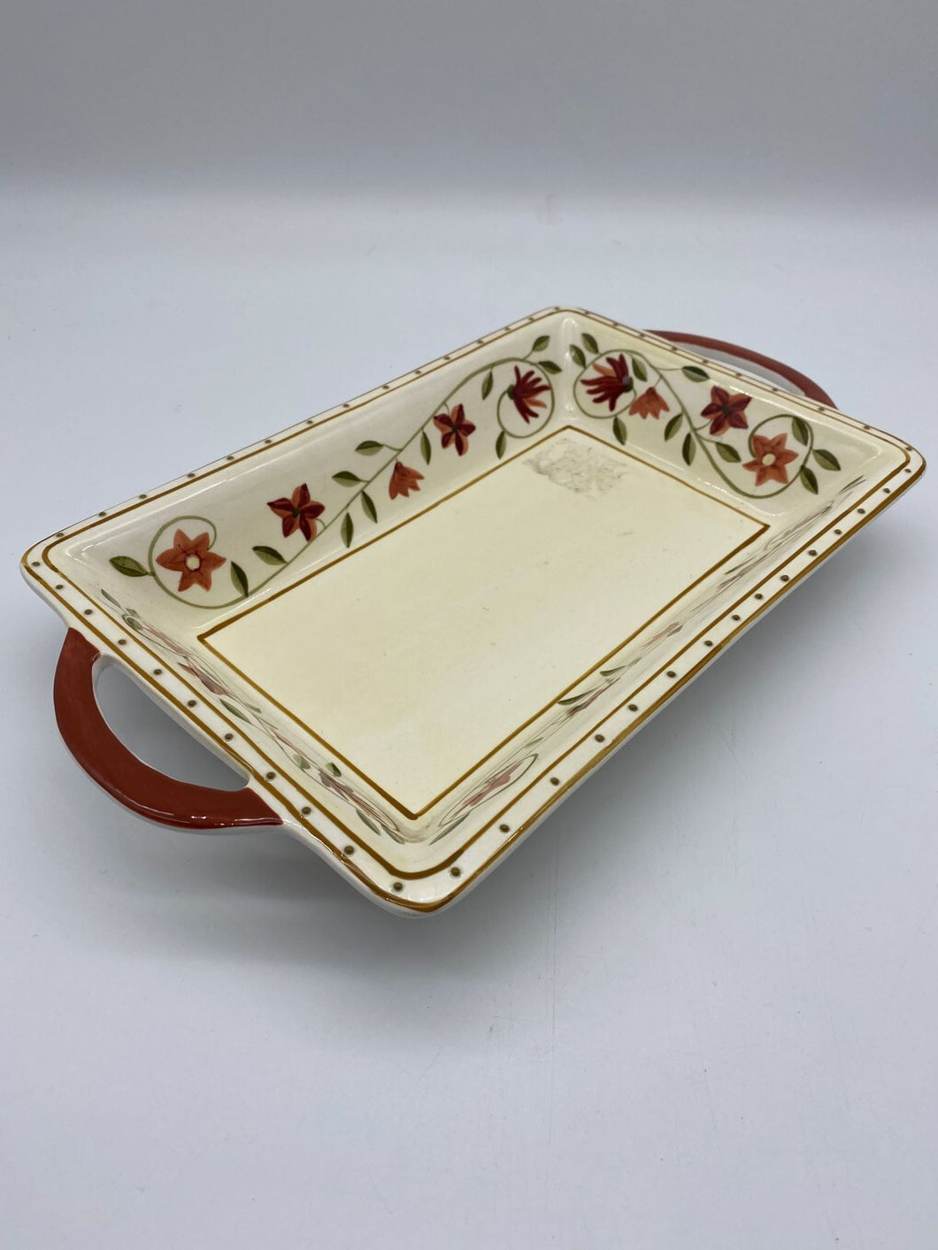 Ceramic Rect Floral Tray