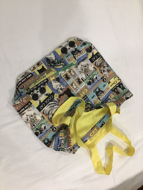 HM Tote Bag Yellow Cats
