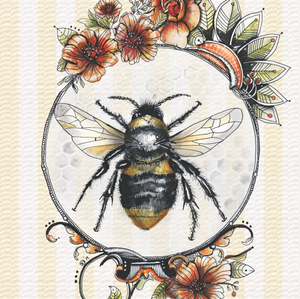 Bee (square card)