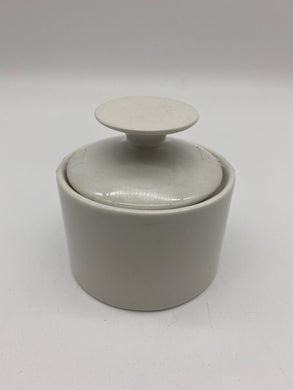 White Ceramic Pot with Lid
