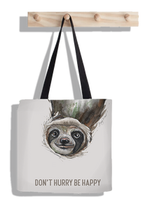 Sloth happy (tote bag)