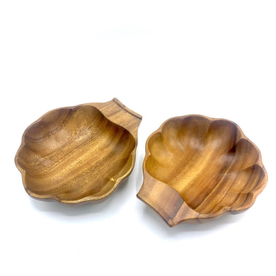 Teak Wood dish set of 2
