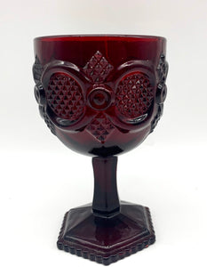 Red Glass Avon Goblet