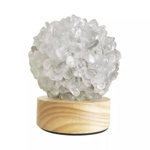 Clear Quartz Point Lamp LED USB