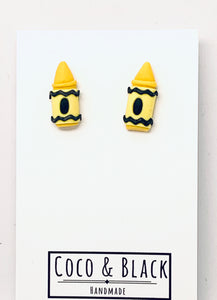 Yellow crayon studs