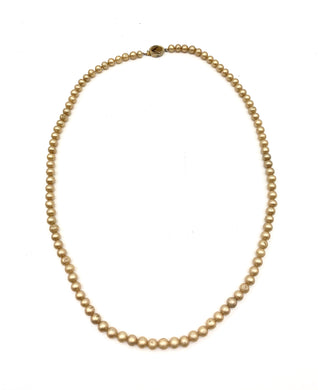 Vintage gold bead string necklace