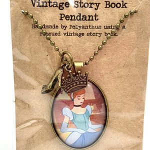 Vintage story book Cinderella necklace