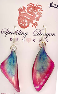 Butterfly Wing Earrings Pink/B