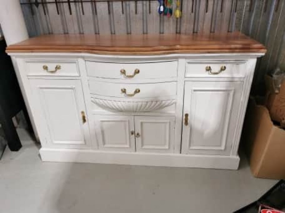 Upcycled white Buffet