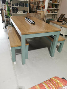 Dining table & 2 bench seats