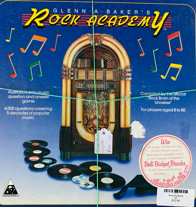 Rock Academy Board Game