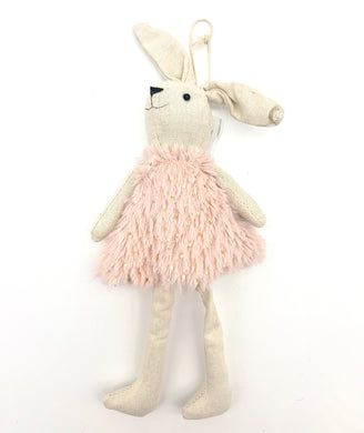 Plush hanging bunny