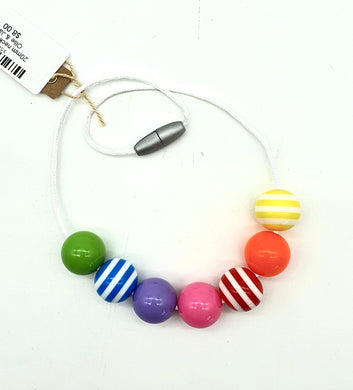 20mm necklace rainbow