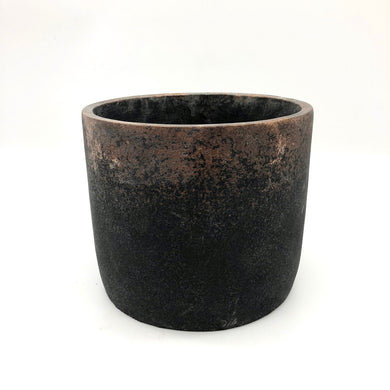 Black & Bronze Concrete Pot