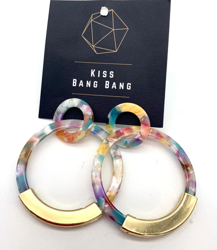 Rainbow large hoops