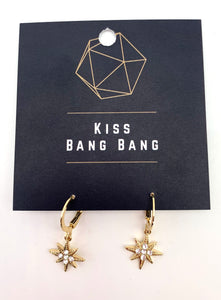 Gold tone diamonte star Earrings