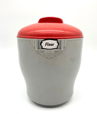 Bakelite Grey/Red Canister