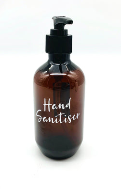 Hand Sanitiser Reusable bottle in Amber - 300ml
