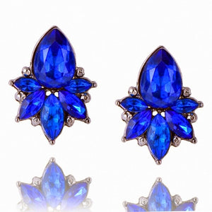 Fashion Colorful Flower Big Luxury Drop Earring Pendant Crystal Gem Statement Earrings Jewelry Wholesale A28
