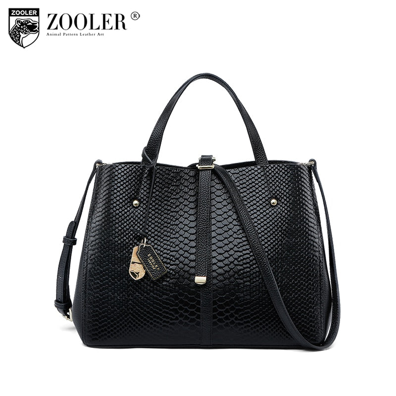 Cowhide leather bag-ZOOLER shoulder messenger bag Genuine leather bag handbag luxury women bags bolsa feminina