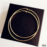 Personality Super Big Circles Hoop Earrings For Women Fashion Gold Silver Color Jewelry Trendy Retro Big Round Circle Earrings