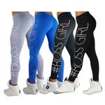 Boss Girl Printing Leggings Slim High Waist Fitness Leggings Casual Leggings Fitness Workout Leggings