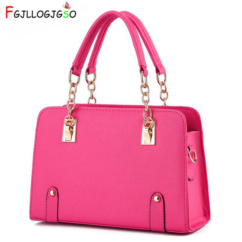 Women Shoulder Bags  Female Pu Leather Handbag Sac A Main For Lady Luxury Handbag Designer Tote Brand Handbag