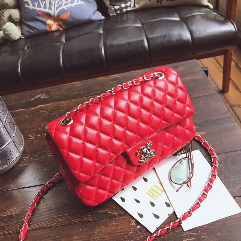 Luxury Designer Chain Messenger Bag woman bag Leather Handbags female Small Flap Crossbody Shoulder bag sac a main Purse bolsos