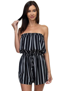 Tube Top Stripe Romper