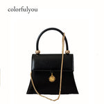 Retro female brand design 2018 black Women's PU Leather Shoulder Bag Sun decoration Women Crossbody Bags Handbags For Ladies