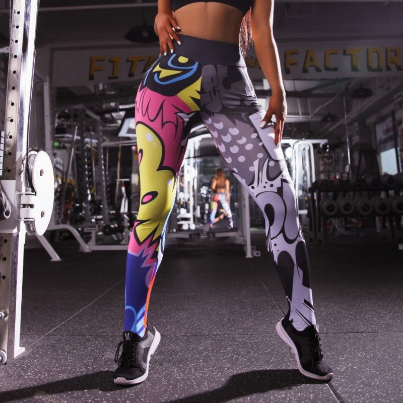 Women Leggings cartoon pictures Printed Fitness Slim Leggins Female Workout Legins Trousers For  Fitness Clothing Leggins Mujer
