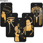 Egypt Nefertiti Anubis Ankh Pharaoh Soft Black Phone Case For Apple iphone X XS Max XR 7 8 Plus 6 6SPlus 5S SE Cover Capa