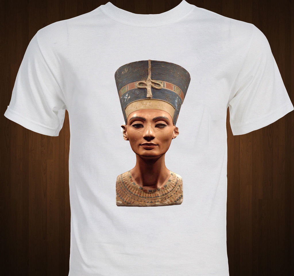 Brand Cotton Men Basic Tops Queen Nefertiti - Ancient Egypt - Berlin Bust Statue Egyptian Art Funny T Shirt