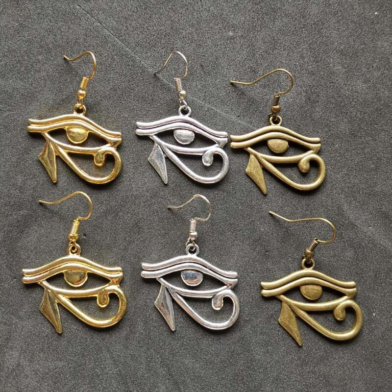 Design Queen Nefertiti Drop Earrings Rah Egypt Wedjat Eye of Horus Dangle Earring For Women Christmas Gift Bijoux Drop Shipping