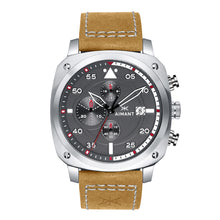 dakar silver camel men's watch