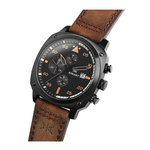dakar black brown men's watch