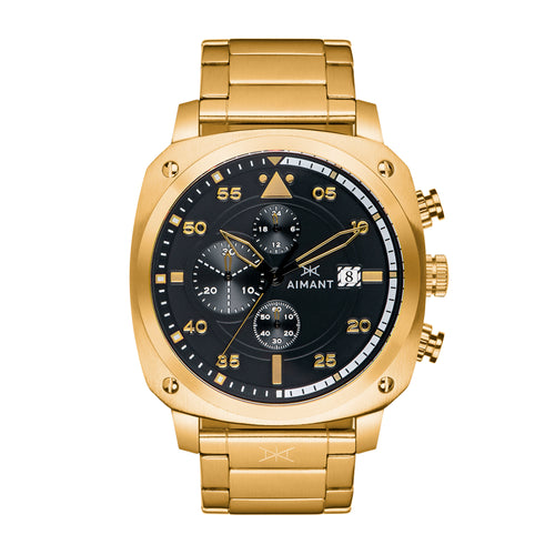 dakar gold black men's watch