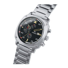 dakar silver black men's watch