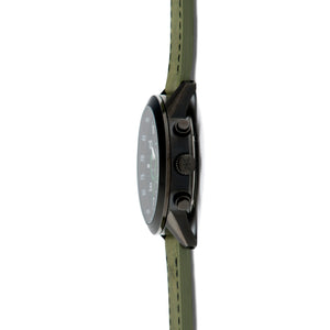 berlin black green men's watch