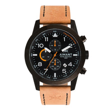 interchangeable black camel leather watch set for men