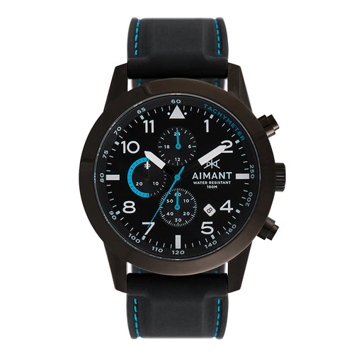 berlin black blue men's watch